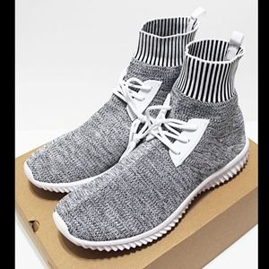 100Zi Shoes - NIB 100Zi Marled-Gray 10.5 Sock-Knit High Sneakers